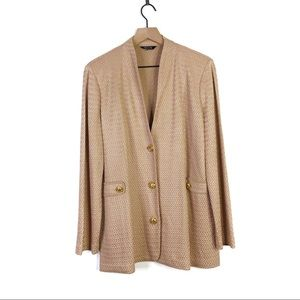 Misook Tweed Boucle Knit Button Cardigan Blazer